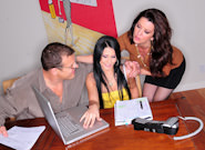 Mature and Young : Couples Seeking Teens - Madison Ivy & Jay Huntington & Raquel Devine!