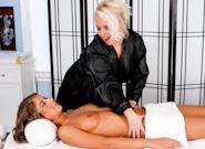 Lesbian Seduction : Its Getting Little Warm In Here - Angel Vain & Presley Hart!