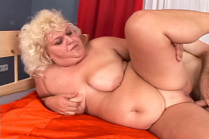 Busty granny Adriana gets raw fucked by young dude