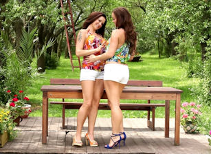 Sivia And Stacy Outdoor Lesbo Lo