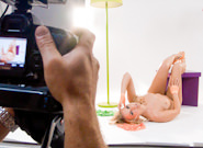 BTS-Michelle in Outrageous Orange