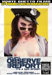 This Isn't Observe And Report - It's A XXX Spoof! DVD Cover