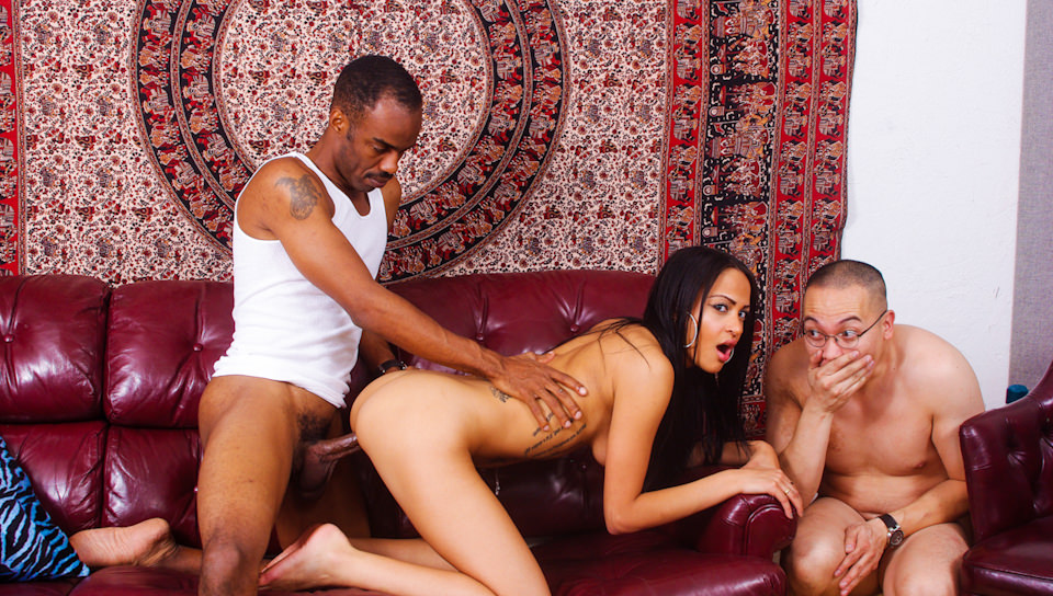 Kimberly Kendall fucked by black dude while hubby watches her
