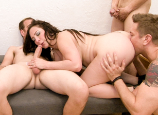 Bi Forced Cuckold Gang Bang #03, Scene #01