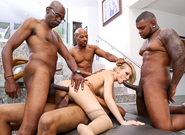 Blacked out sean michaels kagney lynn karter rico strong. Blonde Kagney Lynn Karter gets 4 cruel black cocks!