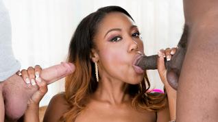 Hot Black Chicks Love Huge White Dicks, Scene #02