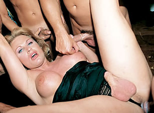 Superstar Shemale Gang Bang #02, Scene #03