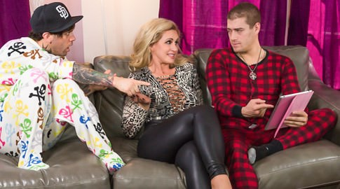 My step mom is a porn star xander corvus ryan conner. Xander's step mother was protective of her boy, nurturing and giving him a sheltered life devoid of modern technology - mama tried. When his pal came for a slumber party as she left to work at her 'HR' job, he recognized her as his favorite curvy blonde MILF porn star: Ryan Conner! Xander's life was a lie! When she saw what happened, she kicked his friend out on his anus - and decided to take her step son's cock in her own. She wanted to show him how appealing she was at her job - and let him make love her considerable tits and mouth - and both her dirty little holes, just like she did in the movies! Thanks, mom.