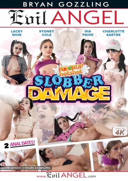 Charlotte Sartre, Gia Paige, Lacey Noir, Sydney Cole - Evil Angel - Hookup Hotshot: Slobber Damage