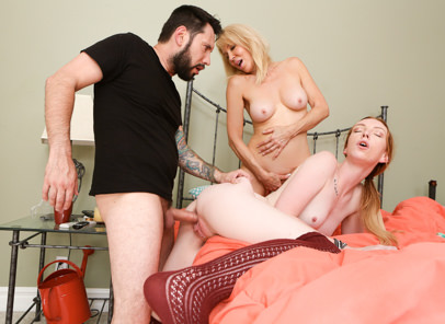 Mommy likes to watch erica lauren tommy pistol katy kiss. Katy Urges Tommy to fuck her even if her mom is watching