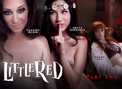 GirlsWay – Little A Red Lesbian Fairy Tale Part Two – Shyla Jennings, Penny Pax & Cassidy Klein