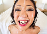Saya s nice cumshot portrait jonni darkko saya song. Shirtless in stockings and red pumps, Asian dirty talker Saya Song butters us up for a lewd, sloppy suc job. The cock-starved cutie crams Jonni Darkko's pulsating prick down her throat, spiritedly tonguing his swollen ball sack as slimy spit gushes over her cheeks. Plastered in pre-cumshot and slobber, Saya makes extraordinary attempts to swallow his entire shaft, trickling snot as he thrusts into her throat. At the climax, Jonni paints a portrait of cumshot on Saya's face; she smiles adorably and says, 'Do I look charming like this'