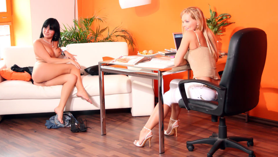 Amazing girl on a casting at Silvia Saint