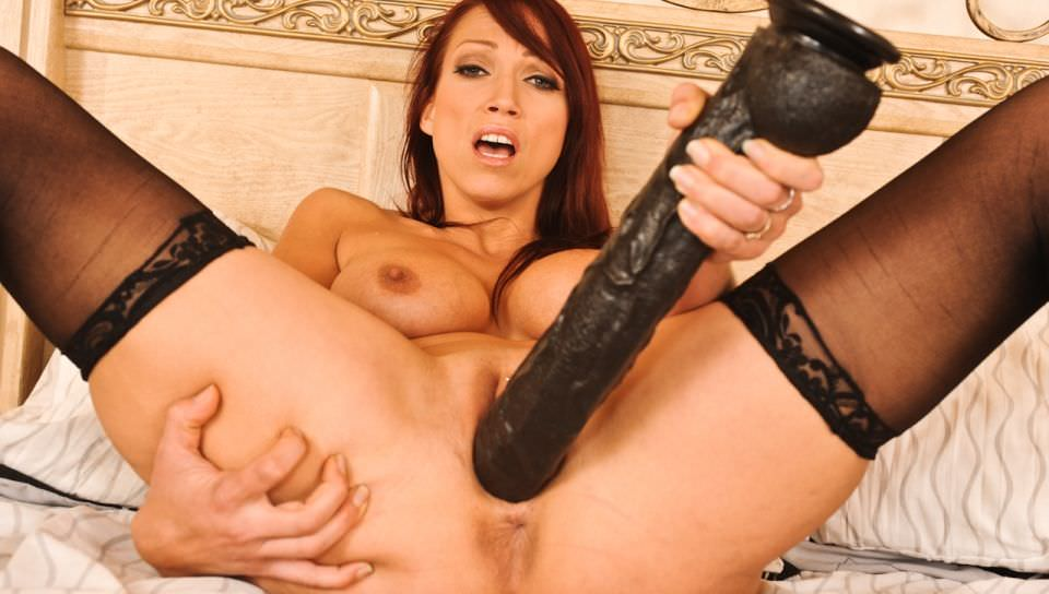 Nicki Hunter masturbates with big toy