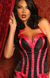 Black and Pink Corset Picture
